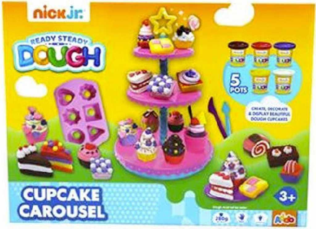 Modelína Cupcake Carousel výroba dortíčků kreativní set s formičkami a tvořítky