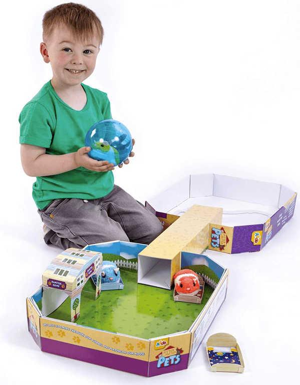 Aréna Křeččí domeček herní set 3 křečci plyšoví s doplňky na baterie v krabici