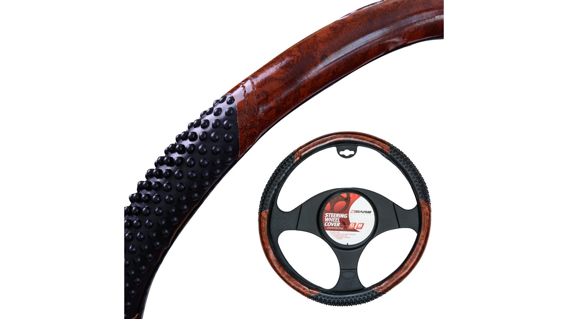 4CARS Potah volantu 37-39cm imitace dřeva