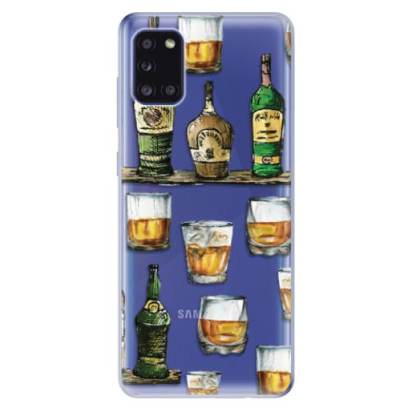 Odolné silikonové pouzdro iSaprio - Whisky pattern - Samsung Galaxy A31