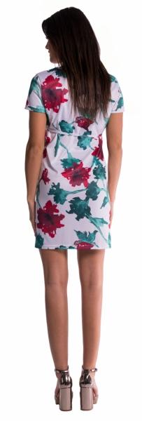 Be MaaMaa Těhotenské šaty s vázáním s květinovým potiskem