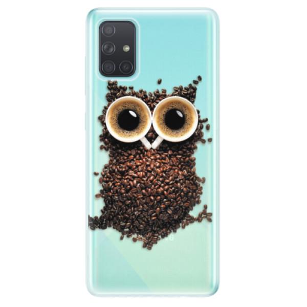 Odolné silikonové pouzdro iSaprio - Owl And Coffee - Samsung Galaxy A71