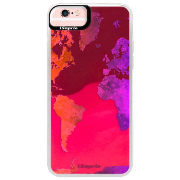 Neonové pouzdro Pink iSaprio - Warm Map - iPhone 6 Plus/6S Plus