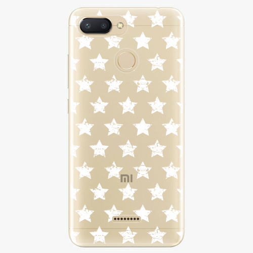 Silikonové pouzdro iSaprio - Stars Pattern - white - Xiaomi Redmi 6