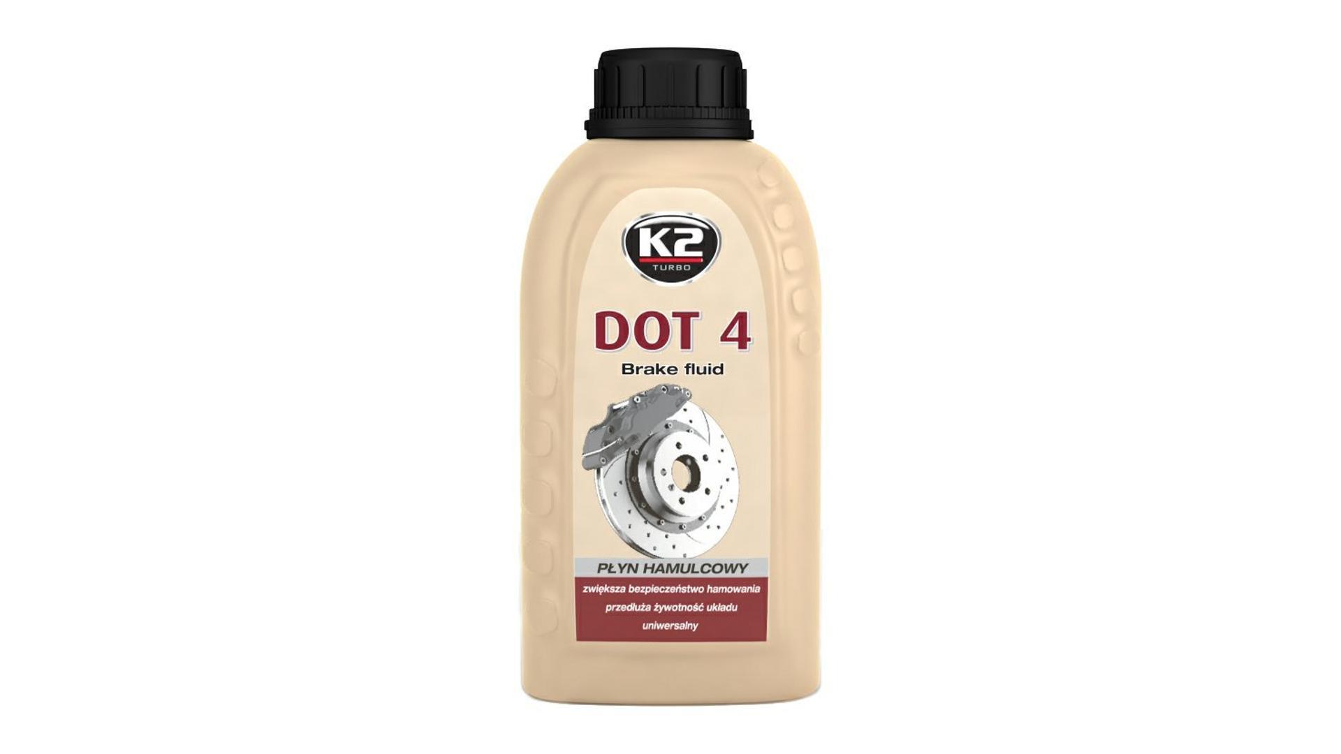 K2 DOT 4 - 250 ml - brzdová kapalina