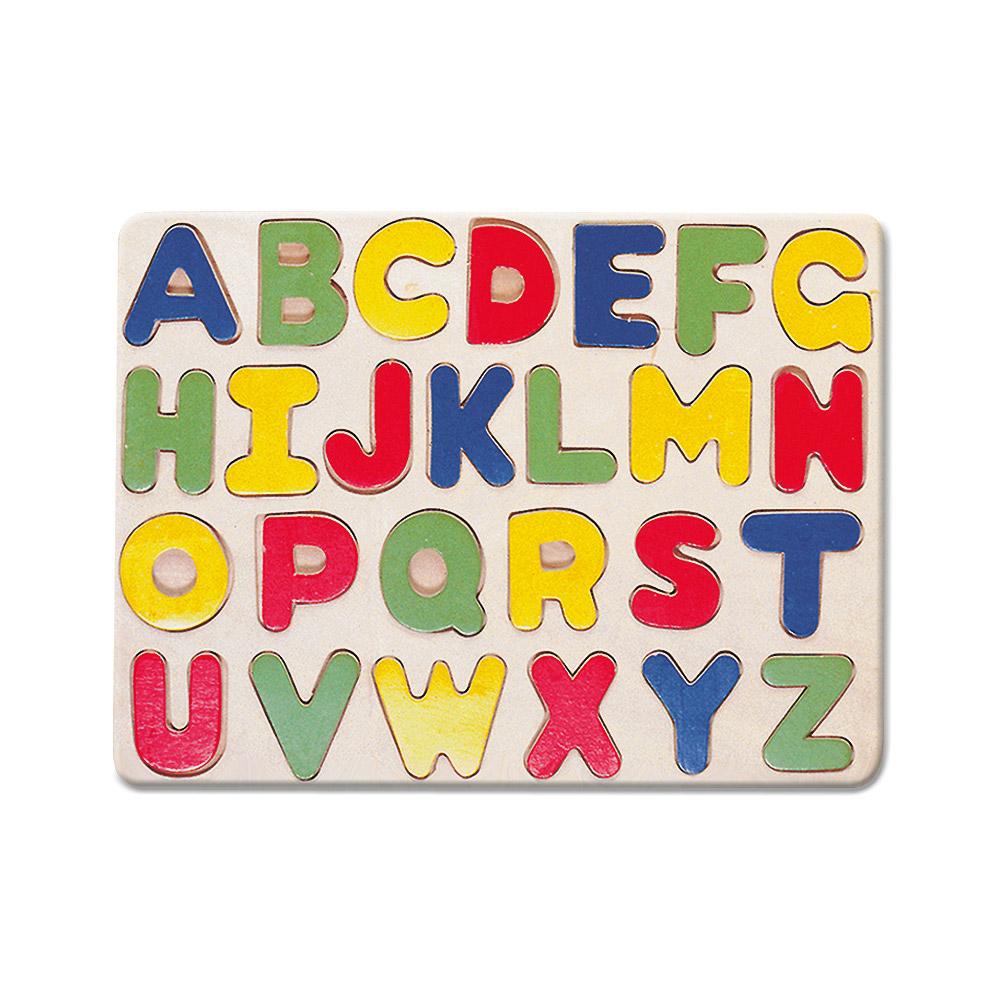 Dřevěná vkládací abeceda - puzzle