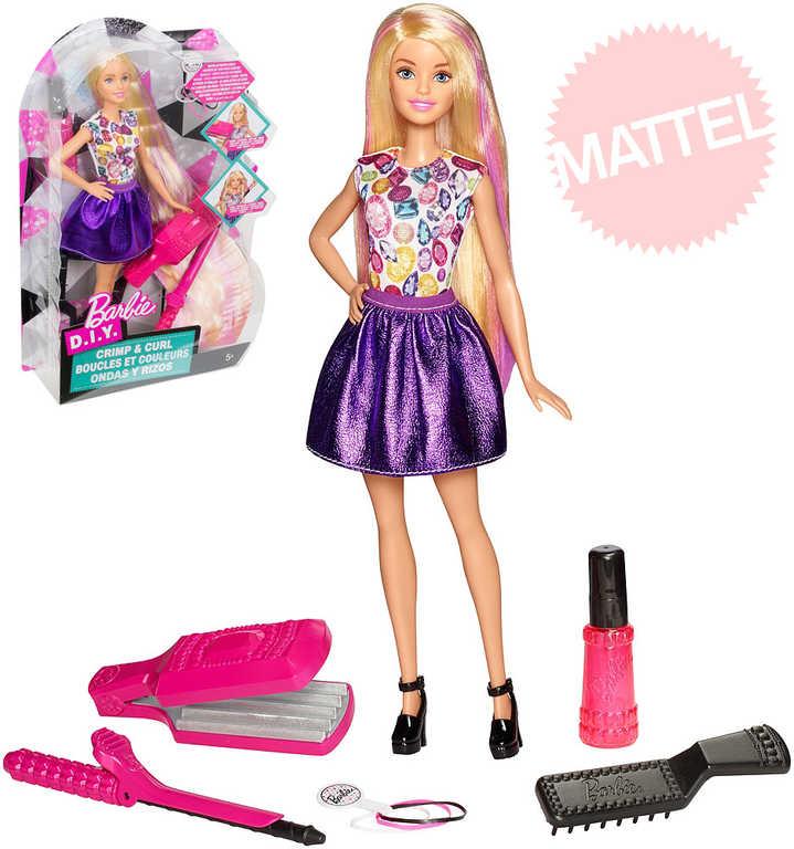 MATTEL BARBIE Vlny a lokny kadeřnický set panenka s nástroji kouzelné vlasy