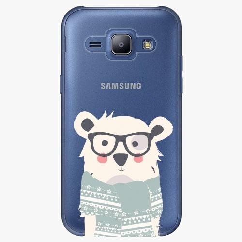 Plastový kryt iSaprio - Bear With Scarf - Samsung Galaxy J1
