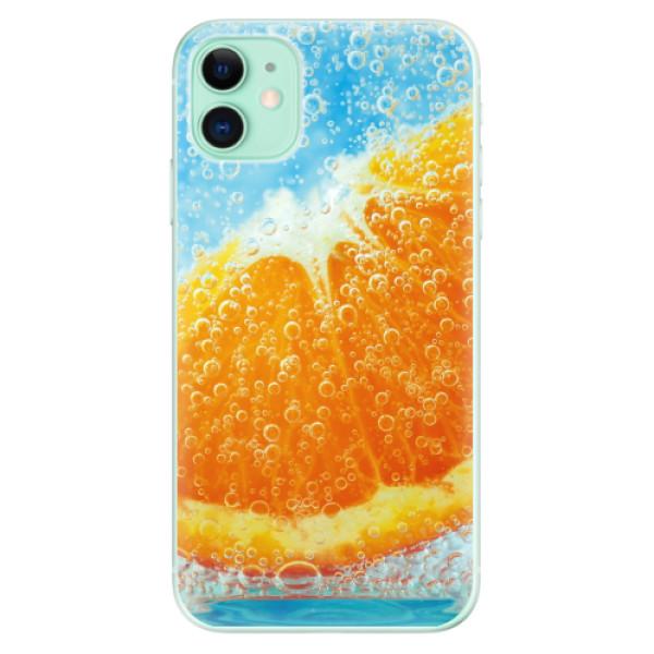 Odolné silikonové pouzdro iSaprio - Orange Water - iPhone 11