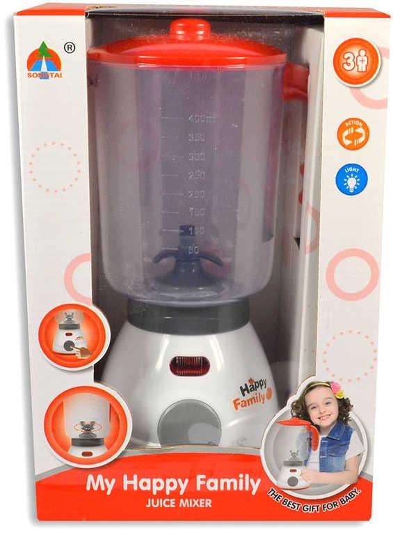 Mixer dětský 26cm na baterie plast v krabici Světlo