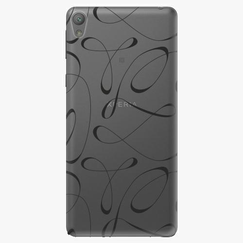 Plastový kryt iSaprio - Fancy - black - Sony Xperia E5