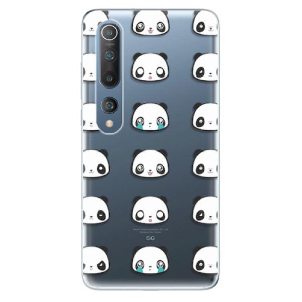Odolné silikonové pouzdro iSaprio - Panda pattern 01 - Xiaomi Mi 10 / Mi 10 Pro