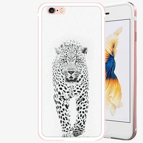 Plastový kryt iSaprio - White Jaguar - iPhone 6 Plus/6S Plus - Rose Gold