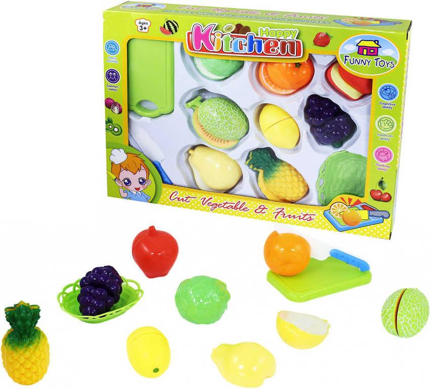 Sada kuchyňská plastová krájecí ovoce na suchý zip s nožíkem a doplňky 11ks