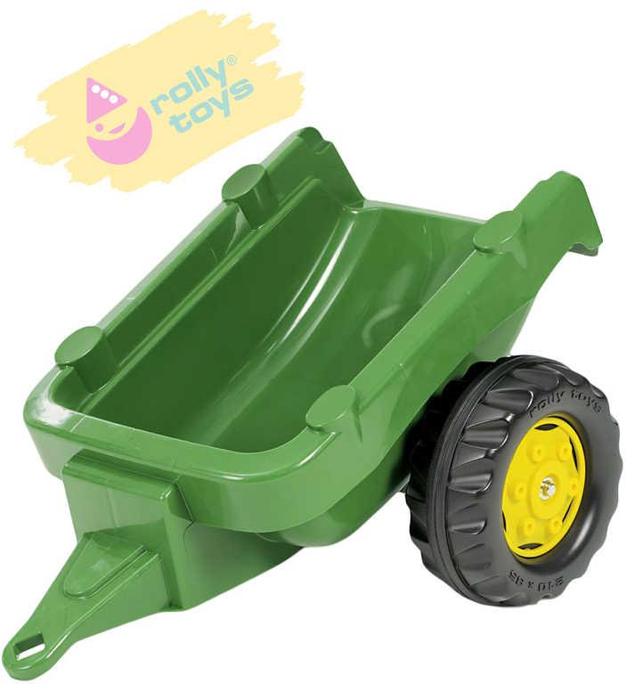 ROLLY TOYS Vlečka za traktor 1osá tmavězelený přívěs