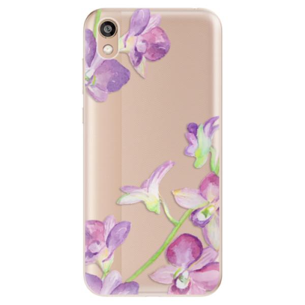 Odolné silikonové pouzdro iSaprio - Purple Orchid - Huawei Honor 8S