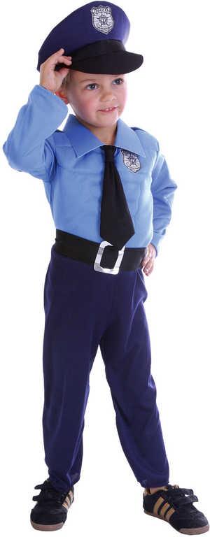KARNEVAL Śaty Policista (92-104cm) 3-4 let KOSTÝM
