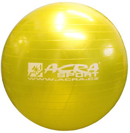 ACRA Míč gymnastický zlatý 85cm fitness balon rehabilitační do 150kg