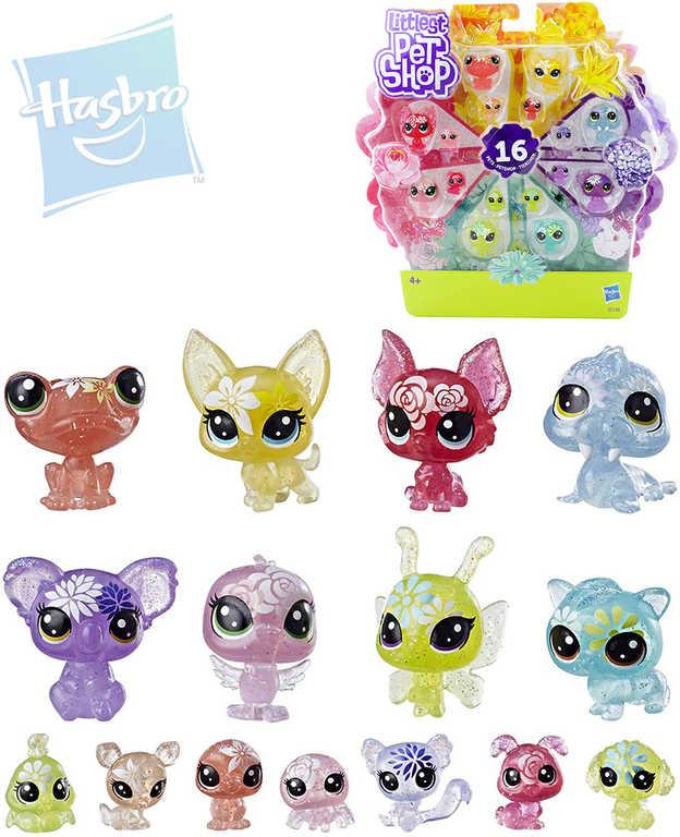 HASBRO LPS Littlest Pet Shop zvířátka květinová velké balení set 16ks