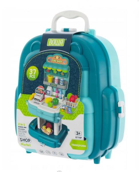 Euro Baby Dětský kufříkový batoh - Obchod, 2v1