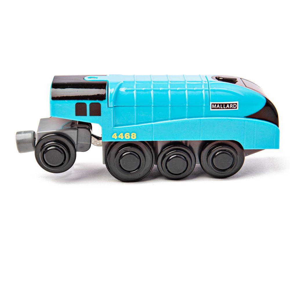 Bigjigs Rail Elektrická lokomotiva Mallard modrá
