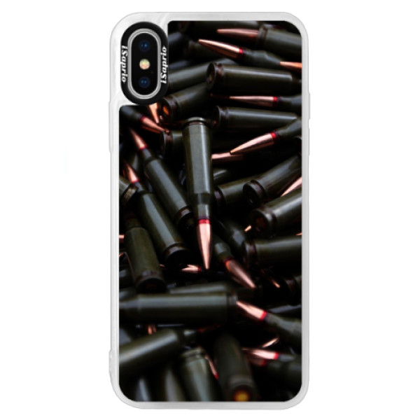 Neonové pouzdro Blue iSaprio - Black Bullet - iPhone X