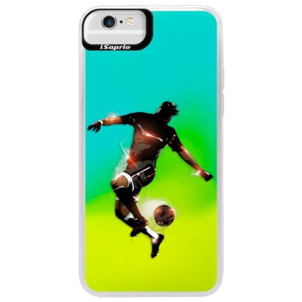 Neonové pouzdro Blue iSaprio - Fotball 01 - iPhone 6 Plus/6S Plus