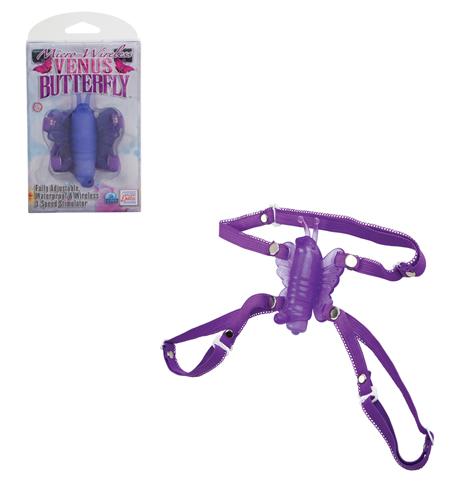 Fialový stimulátor ve tvaru motýlka