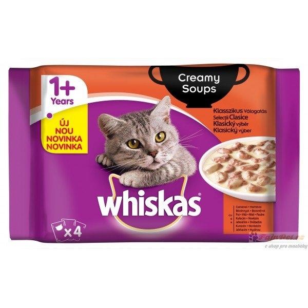 Klasický výběr v krémové omáčce kapsička pro kočky 4x85 g