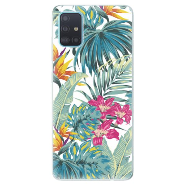 Odolné silikonové pouzdro iSaprio - Tropical White 03 - Samsung Galaxy A51