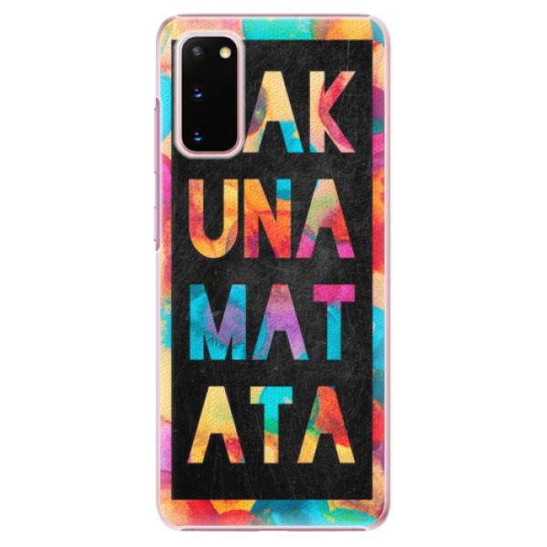 Plastové pouzdro iSaprio - Hakuna Matata 01 - Samsung Galaxy S20