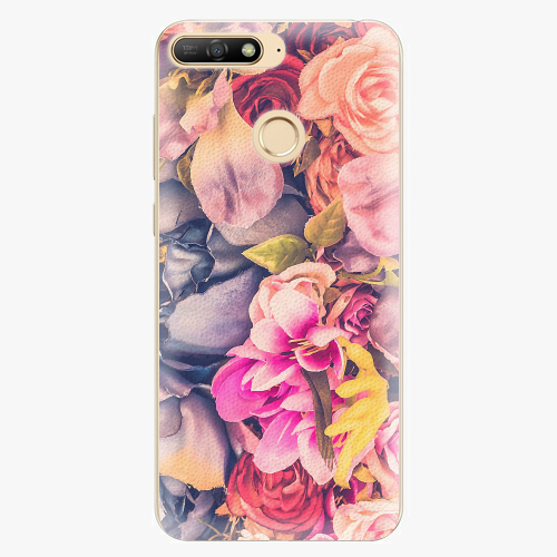 Silikonové pouzdro iSaprio - Beauty Flowers - Huawei Y6 Prime 2018