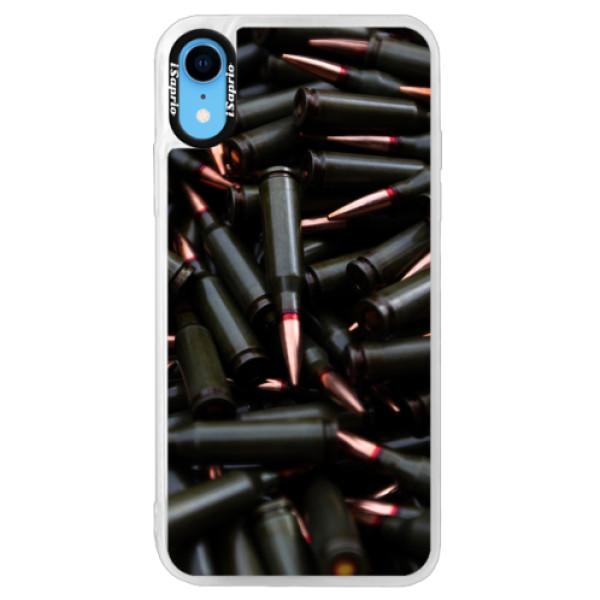 Neonové pouzdro Pink iSaprio - Black Bullet - iPhone XR