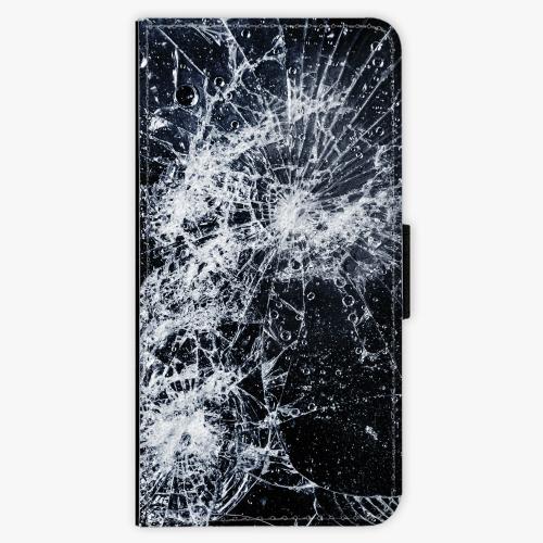 Flipové pouzdro iSaprio - Cracked - Samsung Galaxy A8 2018