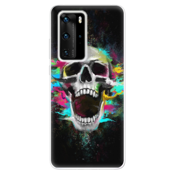 Odolné silikonové pouzdro iSaprio - Skull in Colors - Huawei P40 Pro