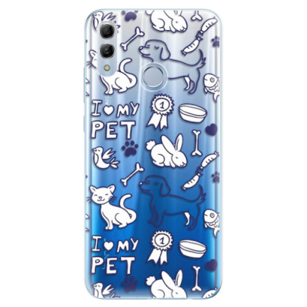 Odolné silikonové pouzdro iSaprio - Love my pets - Huawei Honor 10 Lite