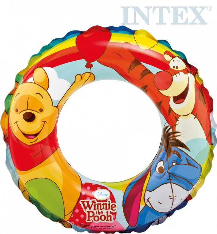 INTEX Kruh dětský nafukovací 51cm Medvídek Pů plavací kolo do vody 58228
