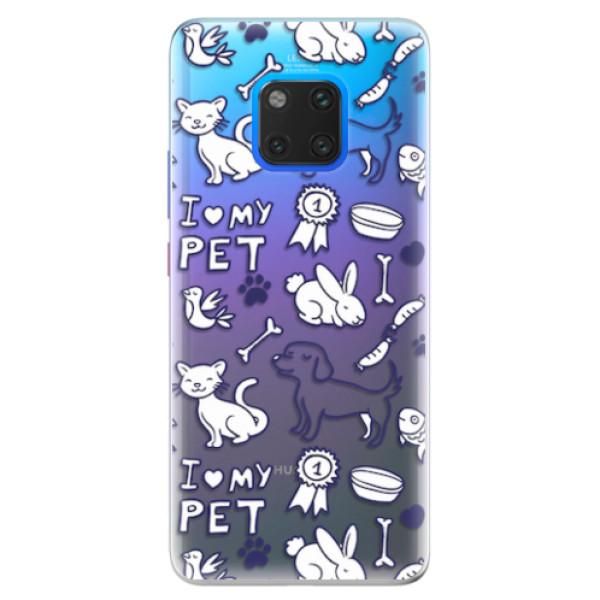 Silikonové pouzdro iSaprio - Love my pets - Huawei Mate 20 Pro