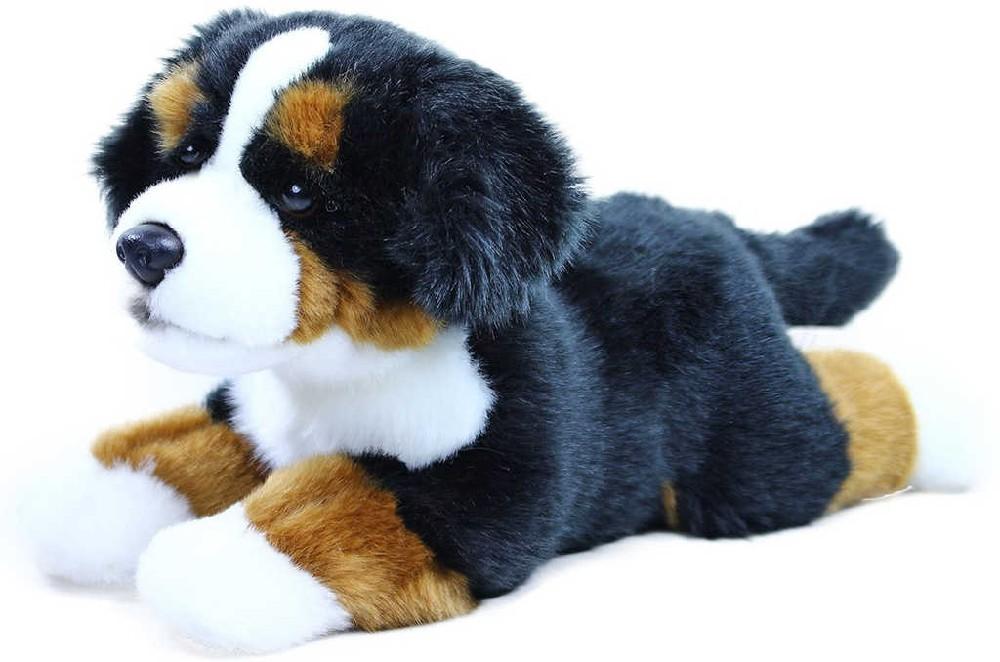 PLYŠ Pes salašnický bernský 30cm ležící pejsek salašník *PLYŠOVÉ HRAČKY*