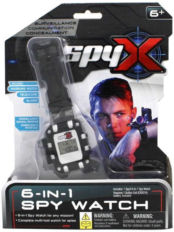 EP Line SpyX Špiónské hodinky na baterie LED Světlo Zvuk