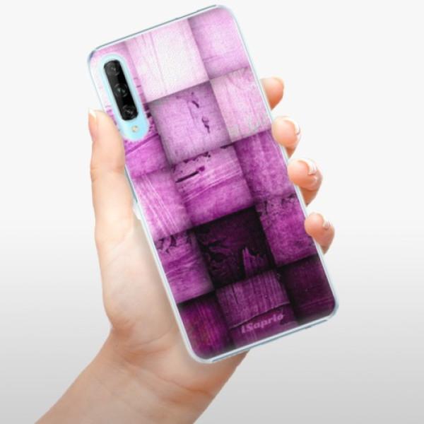 Plastové pouzdro iSaprio - Purple Squares - Huawei P Smart Pro
