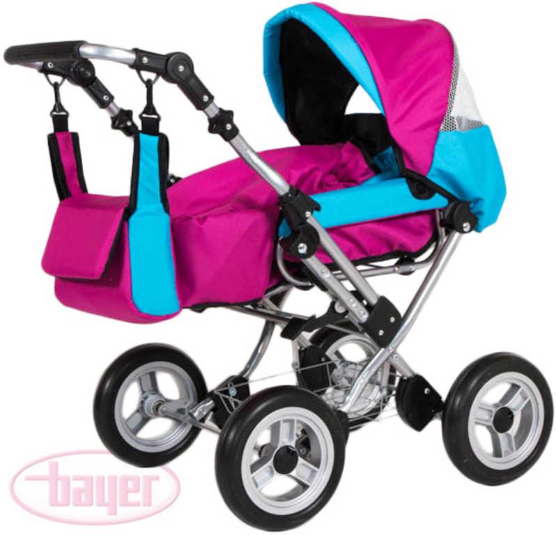 BAYER Kočárek dětský WIX GRANDE růžová/modrá pro panenku miminko