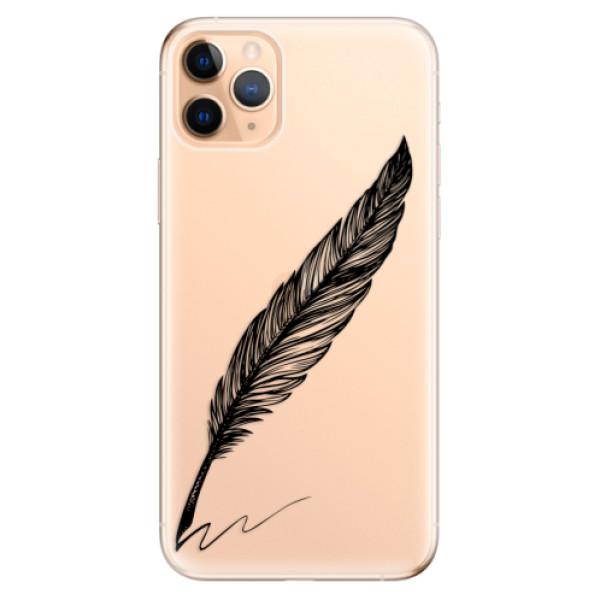 Odolné silikonové pouzdro iSaprio - Writing By Feather - black - iPhone 11 Pro Max