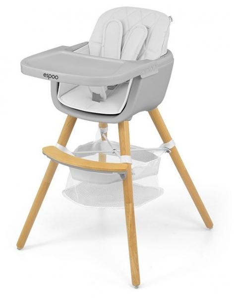 Milly Mally Luxusní jídelní stoleček, křesílko Espoo 2v1, věk: 6 - 36m, bílá