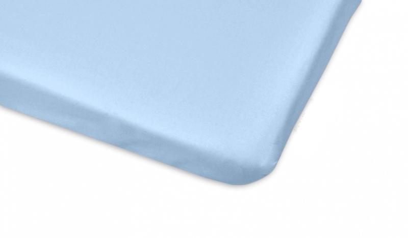 Bavlněné prostěradlo 60x120cm - sv. modrá - 120x60