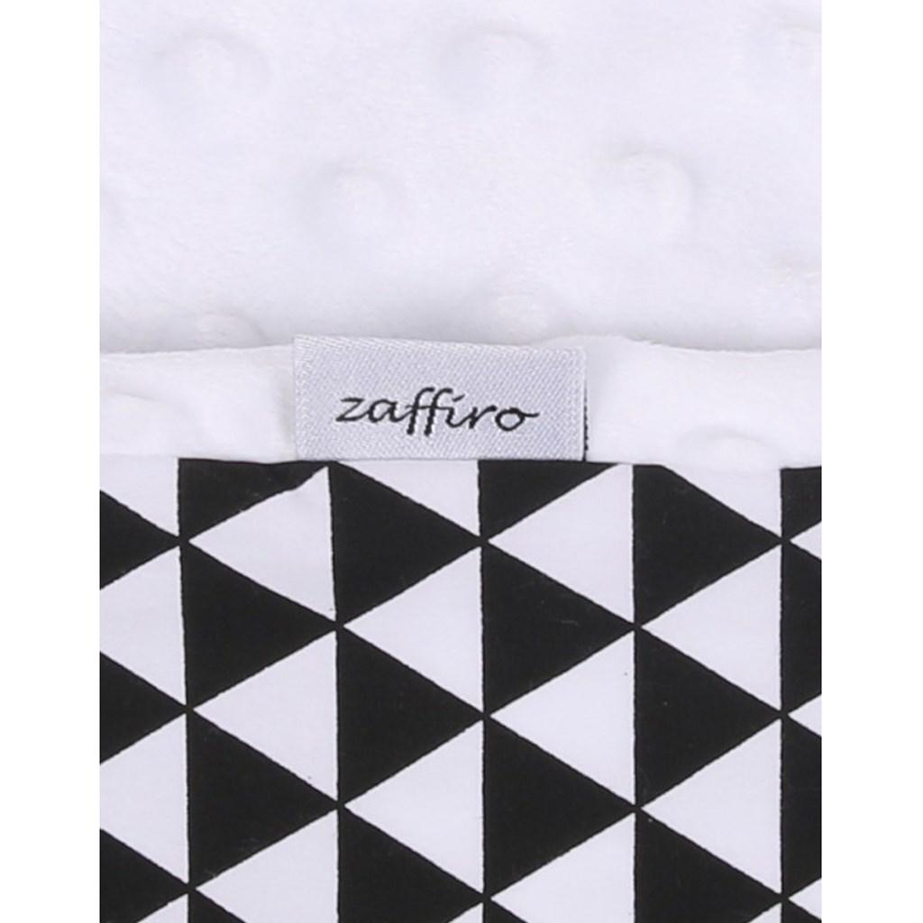 Dětská oboustranná deka z Minky Womar 75x100 černo-bílá - černá