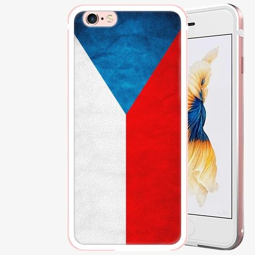 Plastový kryt iSaprio - Czech Flag - iPhone 6 Plus/6S Plus - Rose Gold