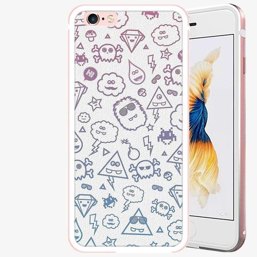 Plastový kryt iSaprio - Funny Clouds - iPhone 6 Plus/6S Plus - Rose Gold