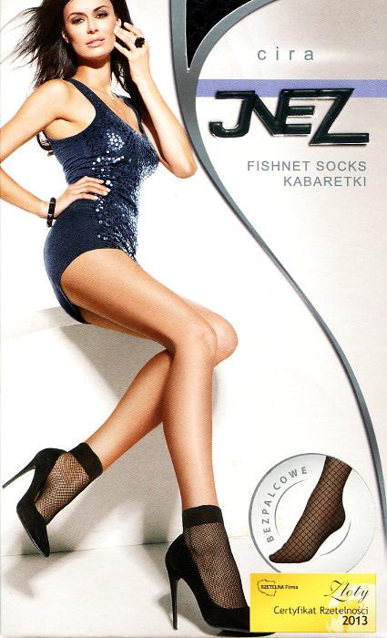 Dámské síťované ponožky Inez Cira kabaretky - Černá/univerzální