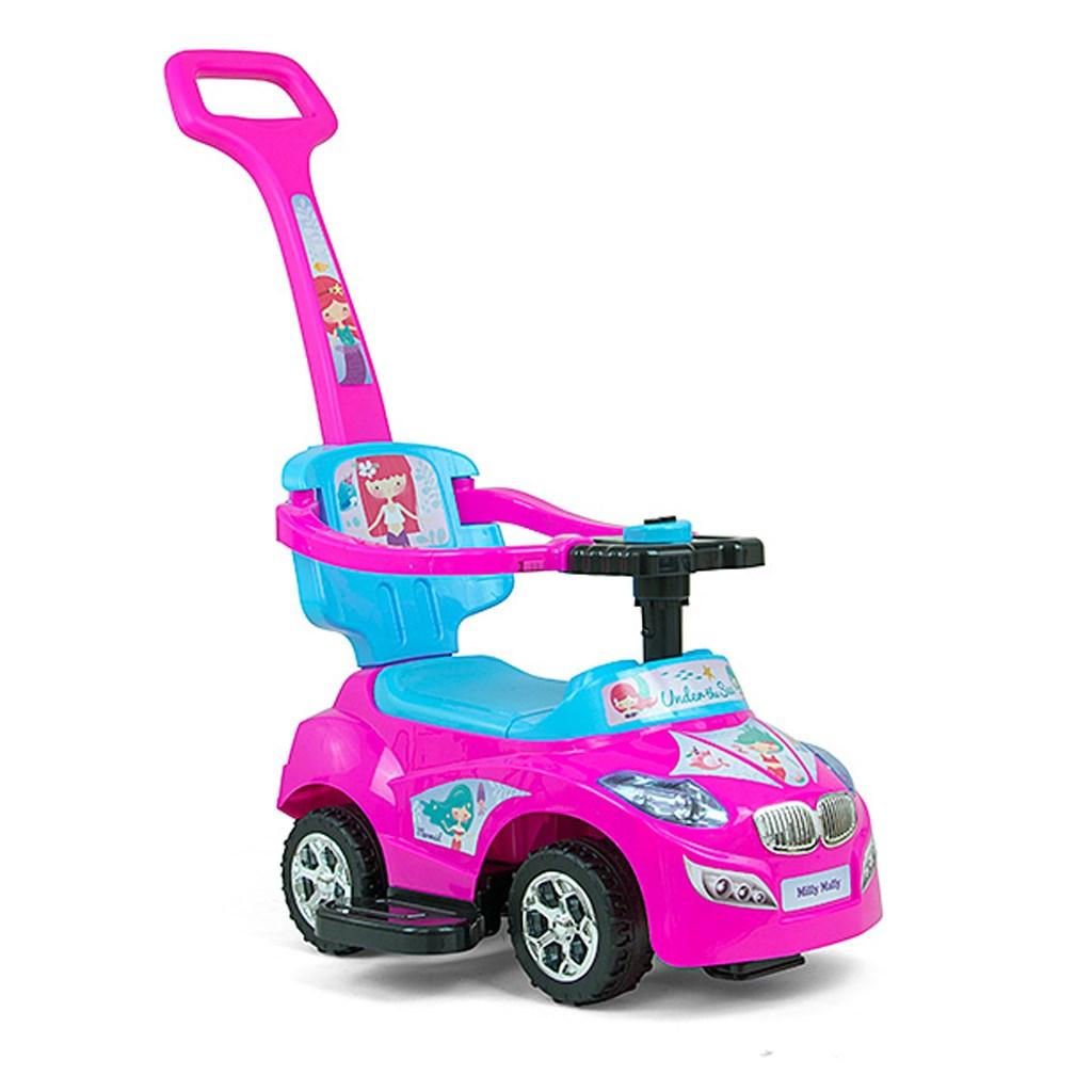 Dětské jezdítko 2v1 Milly Mally Happy - pink-blue - modrá